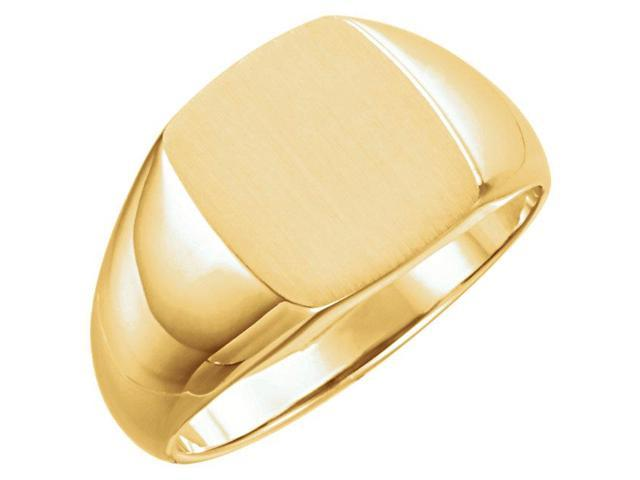14K Yellow 13x12mm Signet Ring