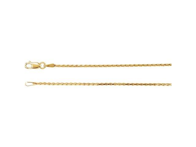 14K Yellow Gold 1.5mm Diamond Cut Wheat 18