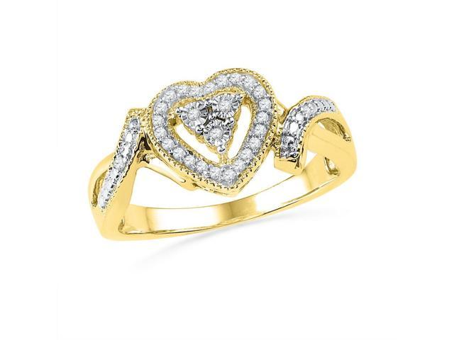 0.10ctw Diamond Heart Ring
