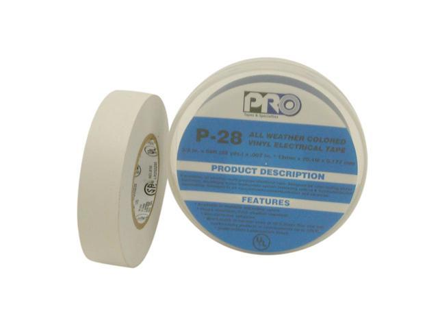 Pro Tapes P-28 All-Weather Colored Electrical Tape: 3/4 in. x 66 ft. (White)