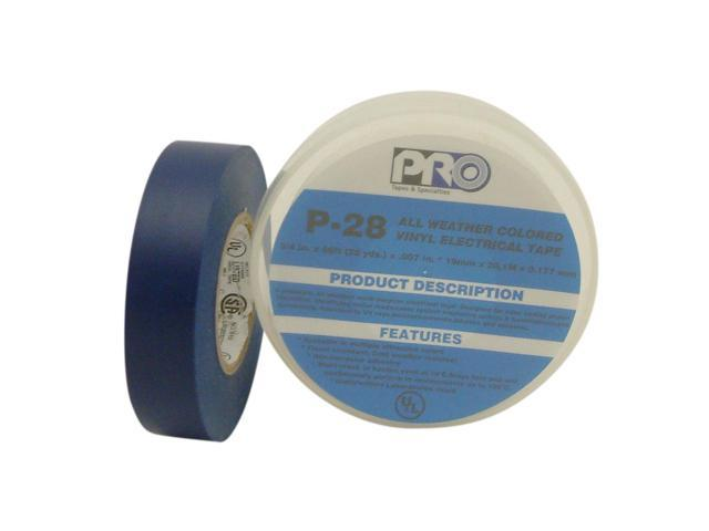 Pro Tapes P-28 All-Weather Colored Electrical Tape: 3/4 in. x 66 ft. (Blue)