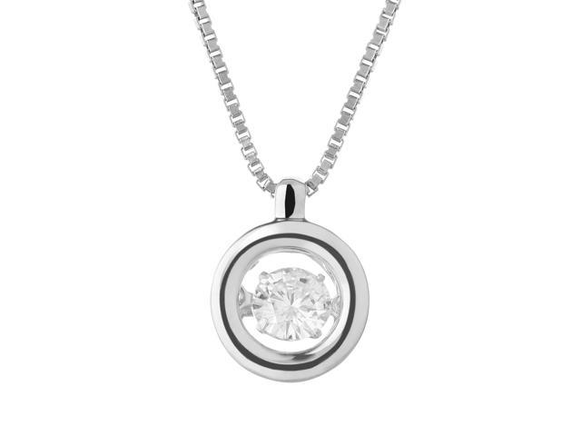 moissanite fiery ct pendant mm round silver product sterling