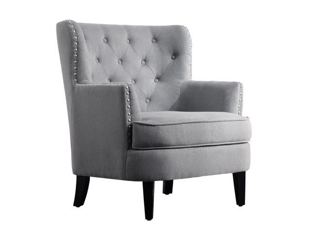 Chrisanna Wingback Club Chair, Accent Chairs, Grey