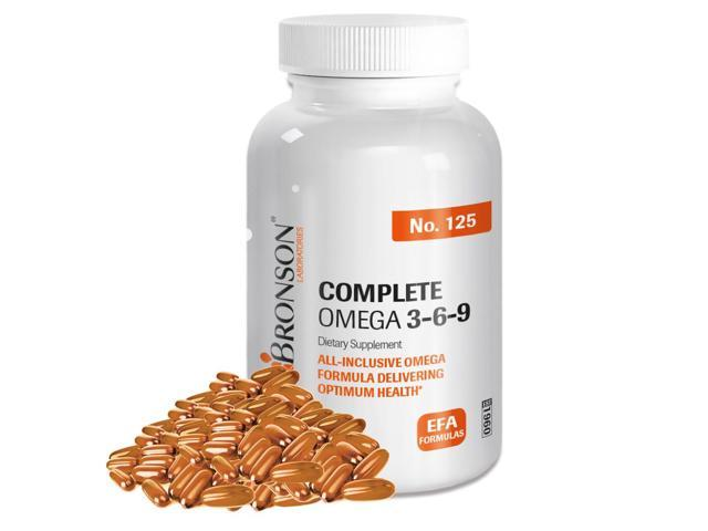 Bronson Complete Triple Omega 3-6-9 Heart Health Support, 100 Softgels