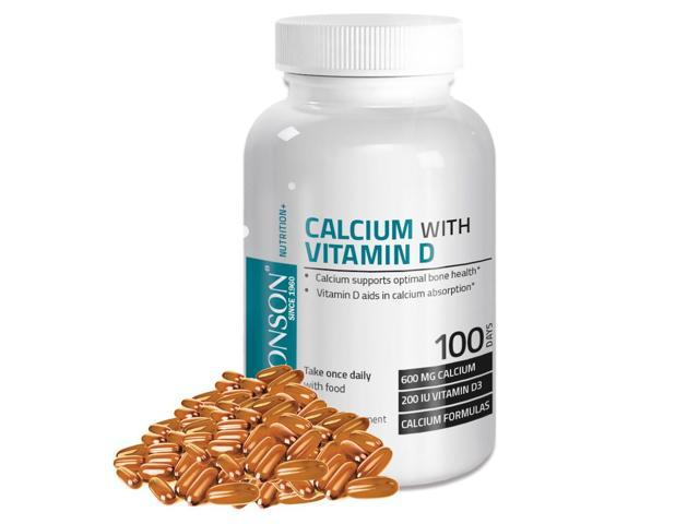 Bronson Calcium and Vitamin D, 100 Softgels