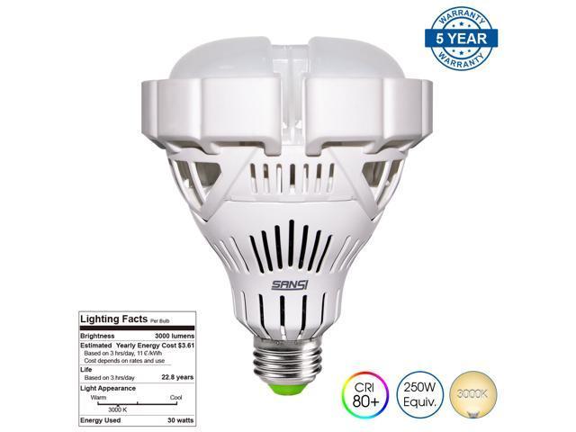 sansi br30 30w 250 watt equivalent ceramic led light bulb2800lm 3000k