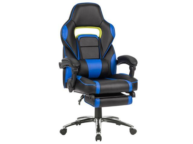 Langria Ergonomic Leather High Back Office Chair Swivel Computer Gaming Executive Desk Task Blue