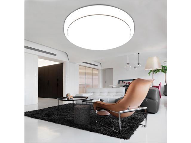 18W Round LED Ceiling Light 7000K, 1600 Lumens Bright Flush Mount Fixture  Lighting For Bedroom