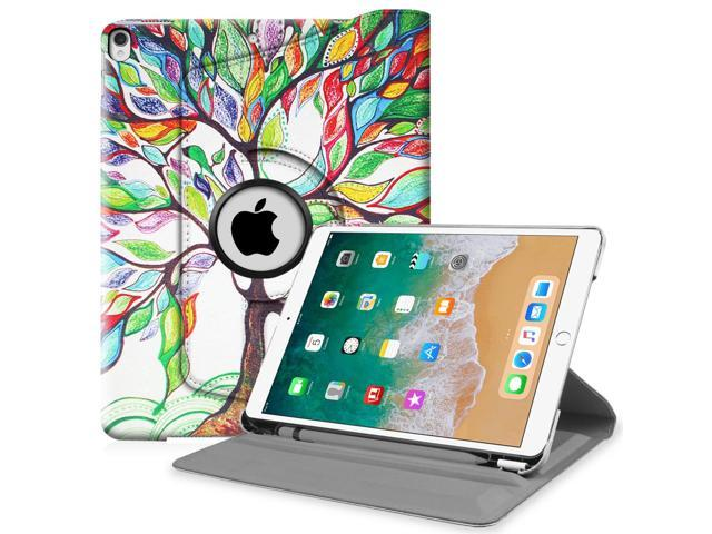 Fintie iPad Pro 10.5 Rotating Case - [Built-in Apple Pencil Holder] 360 Degree Rotating Stand Cover, Love Tree