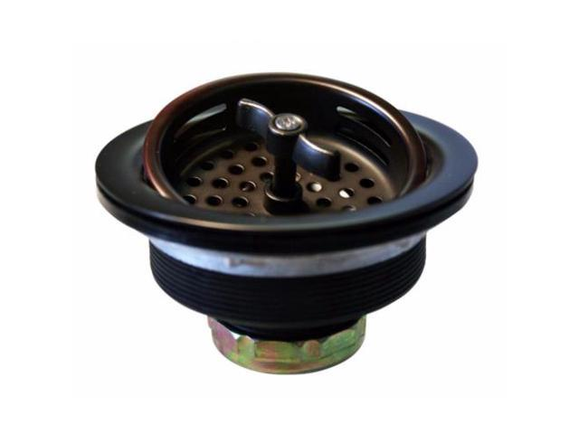 Wing Nut Style Large Kitchen Basket Strainer in Oil Rubbed Bronze