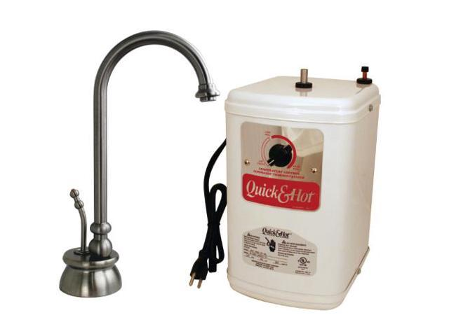 Calorah Traditional 10 in. Hot Water Dispenser and Tank in Satin Nickel