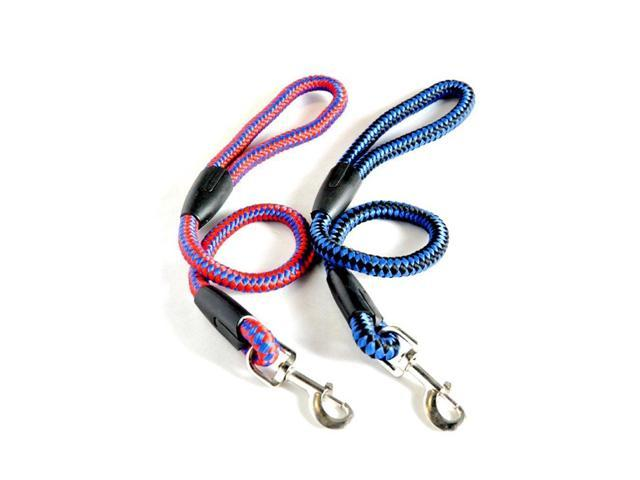 Color:Black&Blue  Type:Dogs Collar Type:Slip Chains Material:Nylon Season:All Seasons Pattern:Solid Diameter:1.6 cm Length:42cm Usage:Collars & Leads