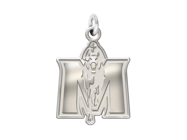 Murray State Racers Sterling Silver Natural Finish Charm
