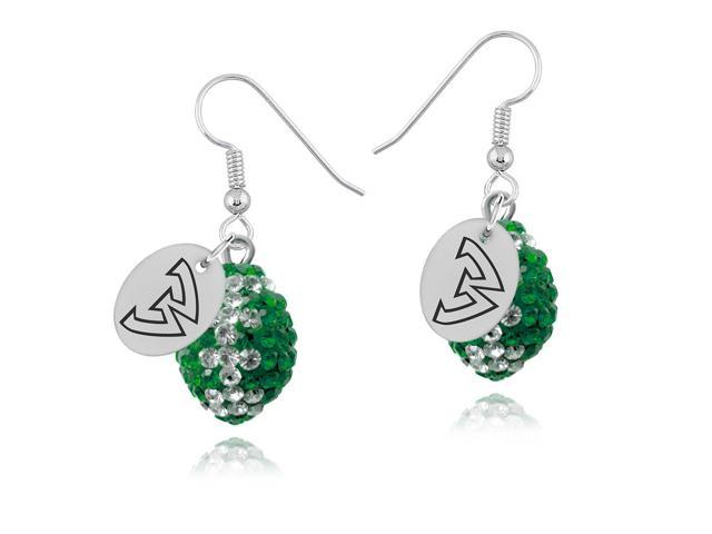 Wayne State Warriors Crystal Football Earrings