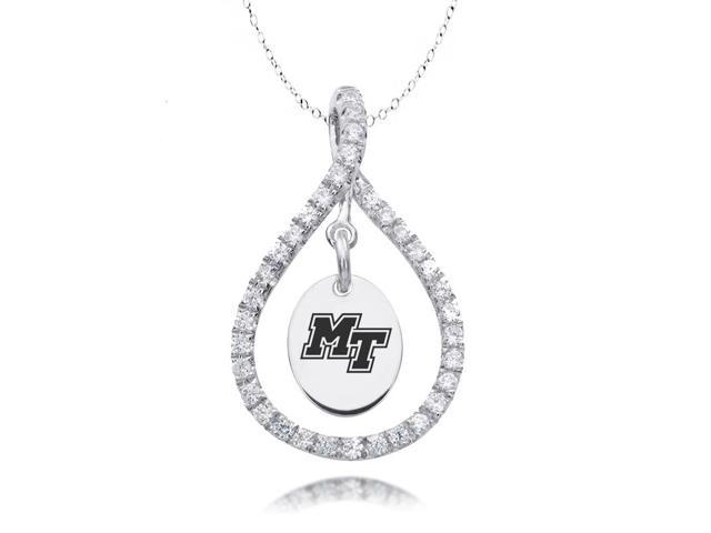Middle Tennessee State Blue Raiders Figure 8 CZ Necklace