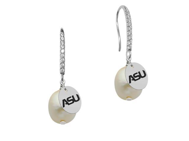 Alabama State Hornets Pearl and CZ Drop Earring