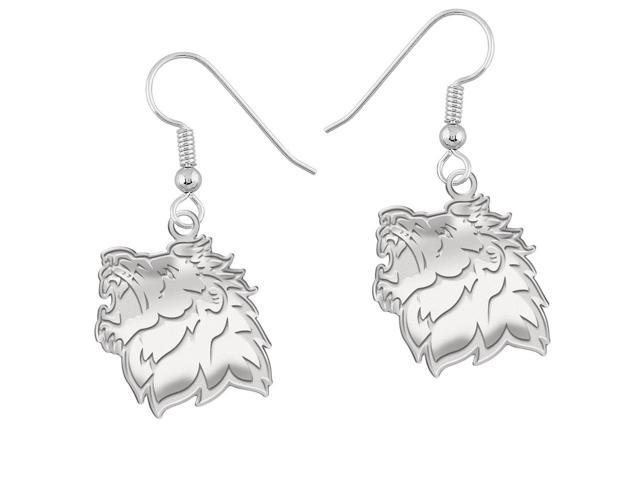 Missouri Southern State Lions Earrings Natural Finish Logo Drops