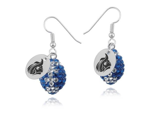 Christopher Newport Captains Crystal Football Earrings