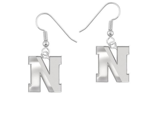 Northeastern Huskies Earrings Natural Finish Logo Drops