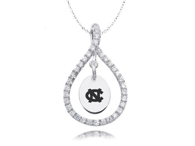 North Carolina Tar Heels Figure 8 CZ Necklace