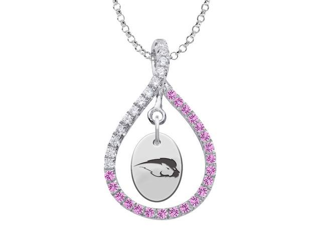 Hofstra Pride Pink CZ Figure 8 Necklace