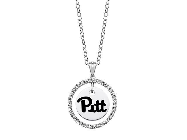 Pittsburgh Panthers CZ Circle Necklace