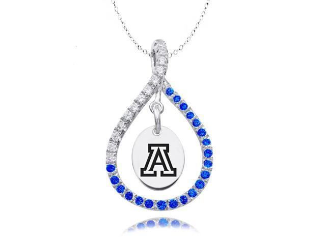 Arizona Wildcats Blue CZ Figure 8 Necklace