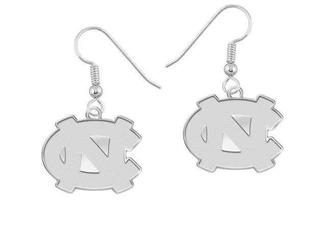 North Carolina Tar Heels Earrings Natural Finish Logo Drops