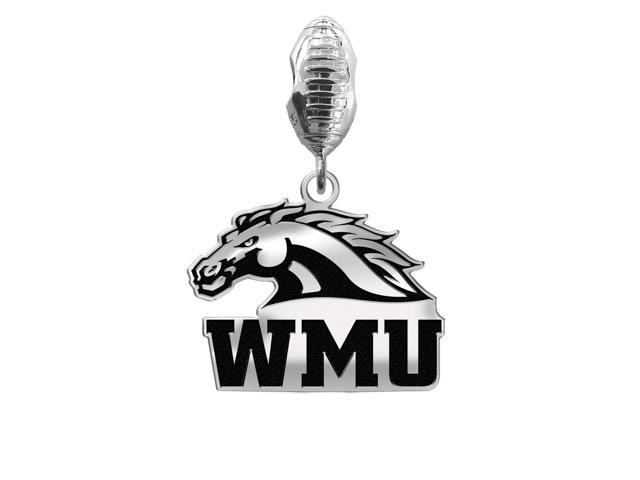 Western Michigan Broncos Football Dangle Charm