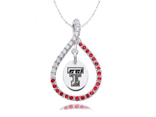 Texas Tech Red Raiders Red CZ Figure 8 Necklace