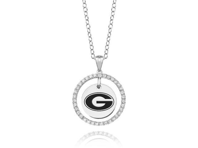 Grambling State Tigers White CZ Circle Necklace