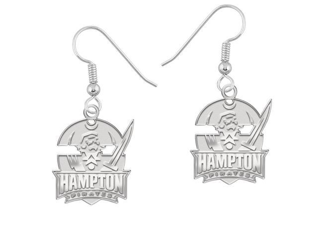 Hampton Pirates Earrings Natural Finish Logo Drops