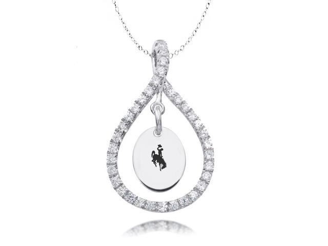 Wyoming Cowboys Figure 8 CZ Necklace