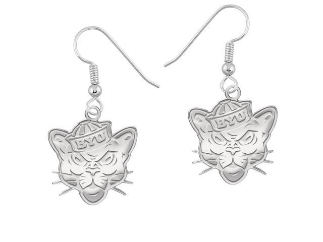 Brigham Young Cougars Logo Natural Finish Drop Earrings
