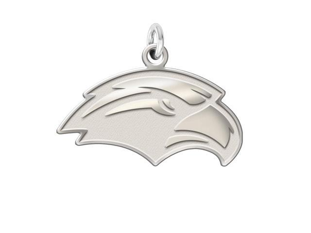 Southern Mississippi Golden Eagles Sterling Silver Natural Finish Charm