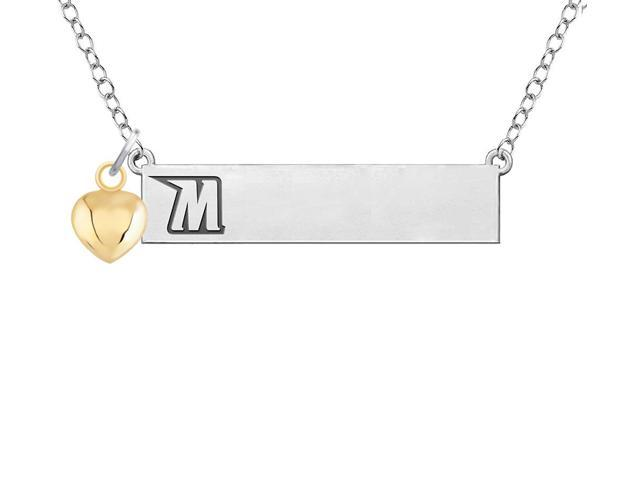 Morgan State Bears Bar Necklace with Gold Heart Accent