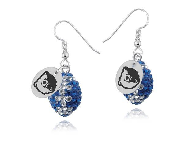Morgan State Bears Crystal Football Earrings