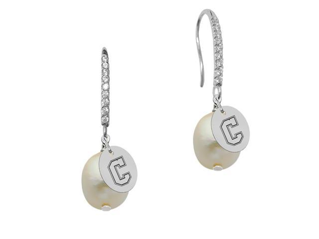 Charleston Cougars Pearl and CZ Drop Earring