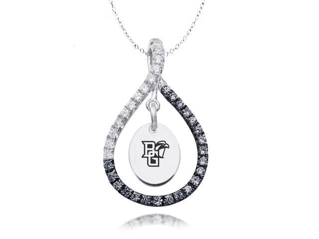 Bowling Green Falcons Black and White CZ Necklace