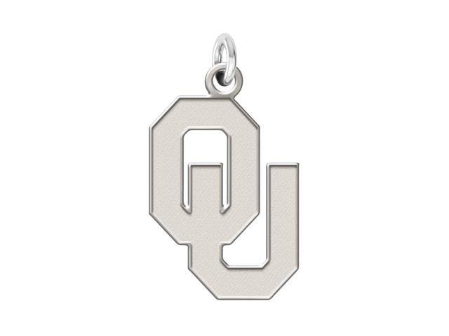 Oklahoma Sooners Sterling Silver Natural Finish Charm
