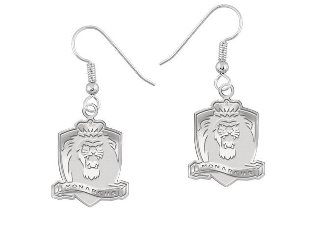 Old Dominion Monarchs Earrings Natural Finish Logo Drops