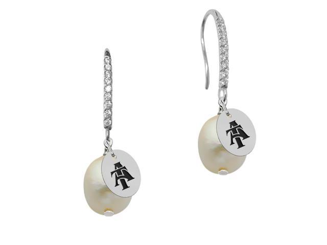 North Carolina A&T Aggies Pearl and CZ Drop Earring