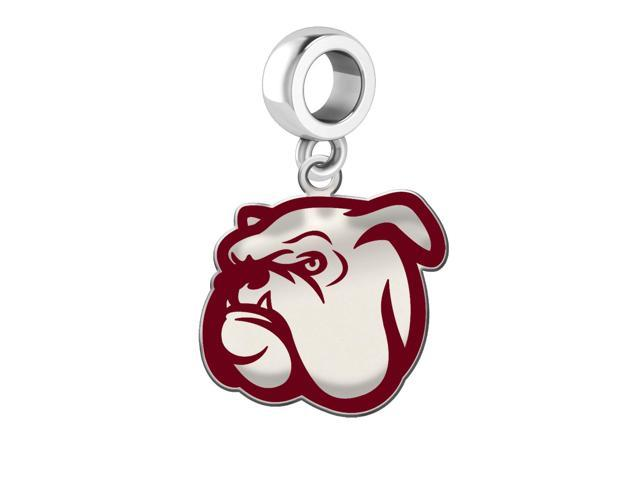 Mississippi State Bulldogs Silver Logo and School Color 1/2