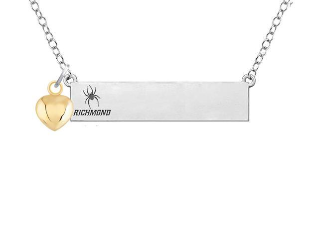 Richmond Spiders Rams Bar Necklace with Gold Heart Accent