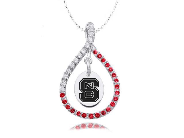 North Carolina State Wolfpack Red CZ Figure 8 Necklace