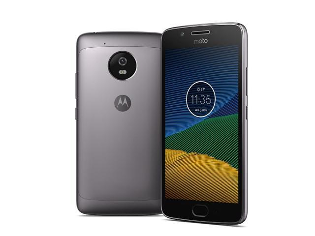 Motorola Moto G5 (5th Gen), XT1670, 5.0-inch LCD, 16GB ROM, 2GB RAM, Android 7.0 Nougat, Lunar Gray, Unlocked, Canadian Model, Works with all Canadian Networks