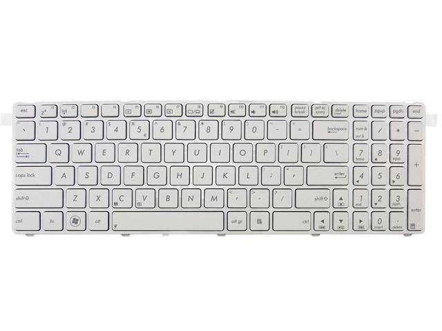 New laptop chiclet keyboard for ASUS X52BY X52DE X52DR X52DY US UI layout White color with white frame