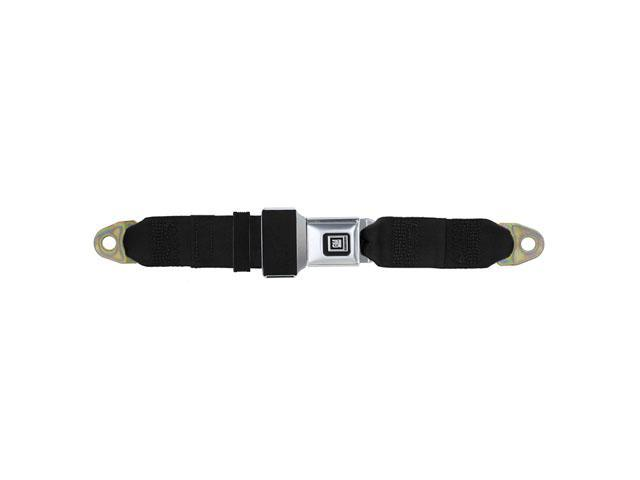Universal Lap Seat Belt, GM Buckle 90 Inch, Black