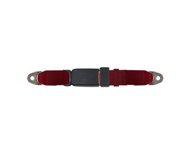 Universal Lap Seat Belt, End Button 60 Inch, Red Wine