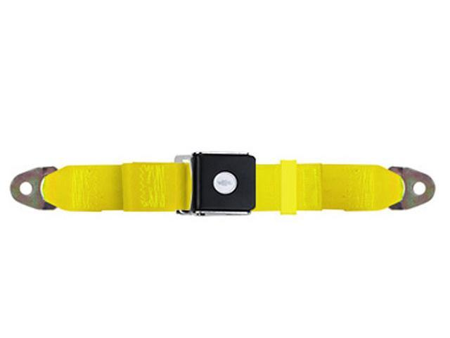 Universal Lap Seat Belt, Chevy Bow Tie 90 Inch, Yellow